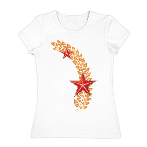 Женская футболка хлопок  Фото 01, С днем победы - 9 мая