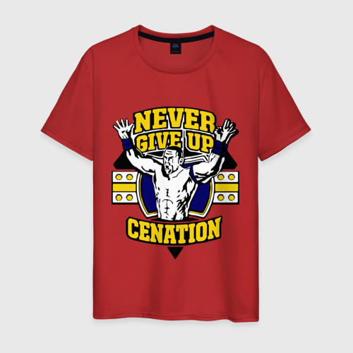 "Мужская футболка хлопок WWE John Cena ""Never Give Up"" (3) Фото 01"