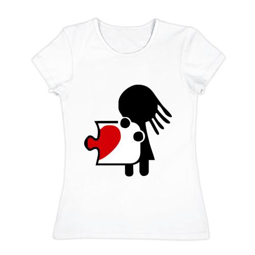 Женская футболка хлопок Сердце на двоих (женская)