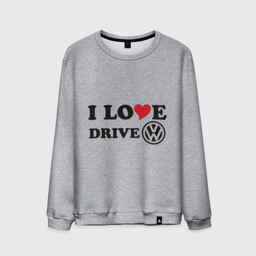 Мужской свитшот хлопок  Фото 01, I love drive