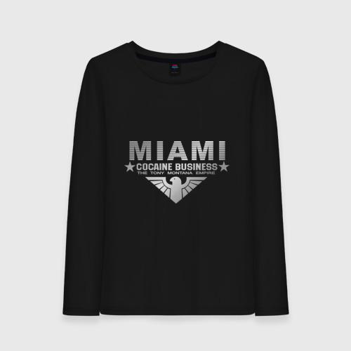 Женский лонгслив хлопок Miami - The Tony Montana empire