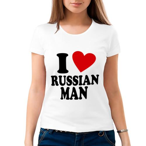 Женская футболка хлопок  Фото 03, I love russian man