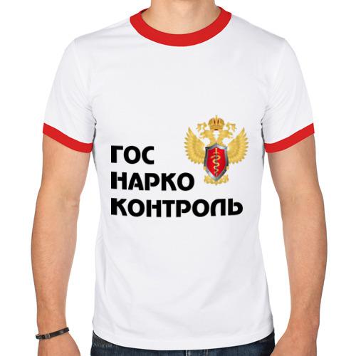 """Мужская футболка-рингер """"Госнаркоконтроль"""" - 1"""