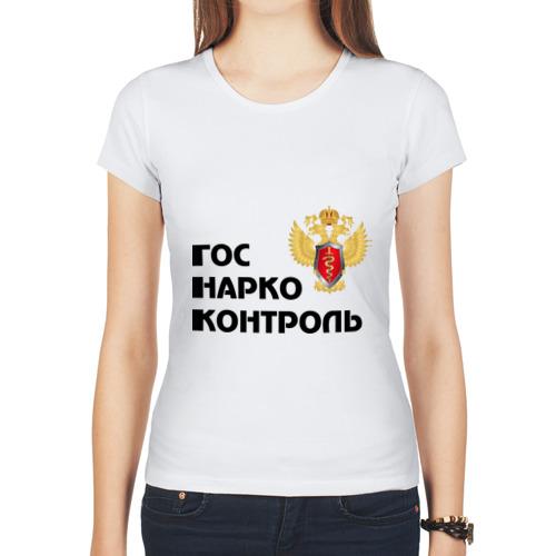 """Женская футболка синтетическая """"Госнаркоконтроль"""" - 1"""