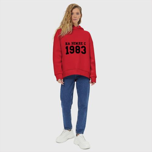 Женское худи Oversize хлопок На Земле с 1983 Фото 01