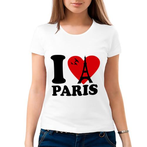 Женская футболка хлопок  Фото 03, Я люблю Париж