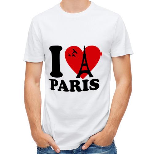Мужская футболка полусинтетическая  Фото 01, Я люблю Париж