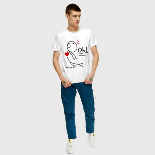 Мужская футболка хлопок Магнит для сердца (мужская) Фото 01