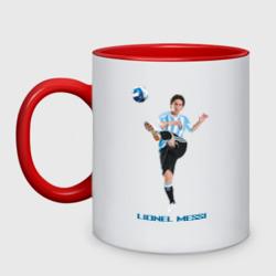 Lionel Messi - Argentina, цвет: белый + красный, фото 0