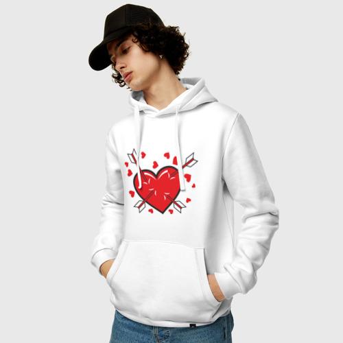 Мужская толстовка хлопок  Фото 03, Амур и стрелы в сердце (2 половинка)