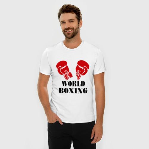 Мужская футболка премиум  Фото 03, World boxing