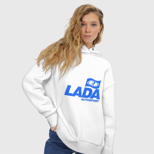 Женское худи Oversize хлопок Lada Autosport Фото 01