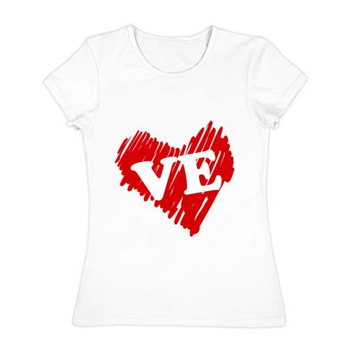 Женская футболка хлопок  Фото 01, Love (женская)