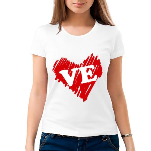 Женская футболка хлопок  Фото 03, Love (женская)