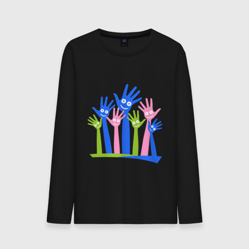 """Мужская футболка с длинным рукавом """"Hands Up"""" - 1"""