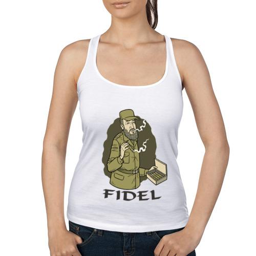 Женская майка борцовка  Фото 01, Fidel Castro - Фидель Кастро