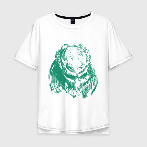 Мужская футболка хлопок Oversize Хищник