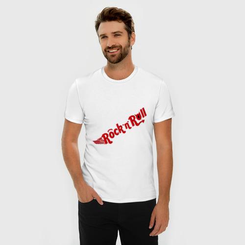 Мужская футболка премиум  Фото 03, Rock and Roll (2)