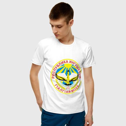 Мужская футболка хлопок Ингушетия герб Фото 01