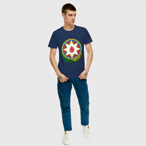 Мужская футболка хлопок Азербайджан герб Фото 01