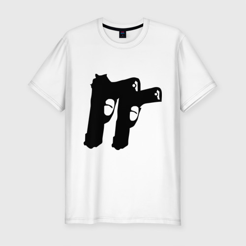 Мужская футболка премиум  Фото 01, Пистолеты