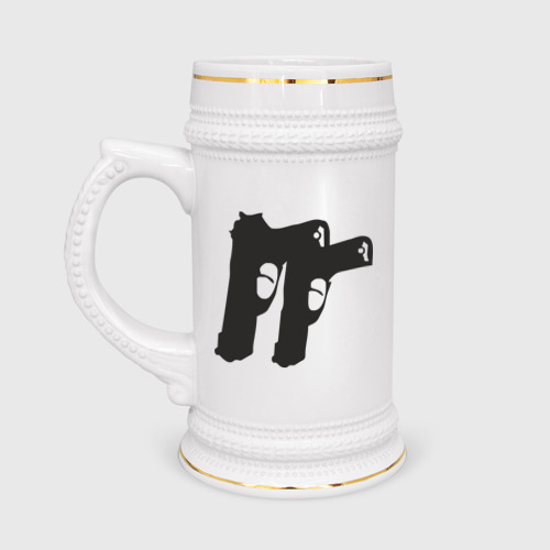 Кружка пивная Пистолеты (11)