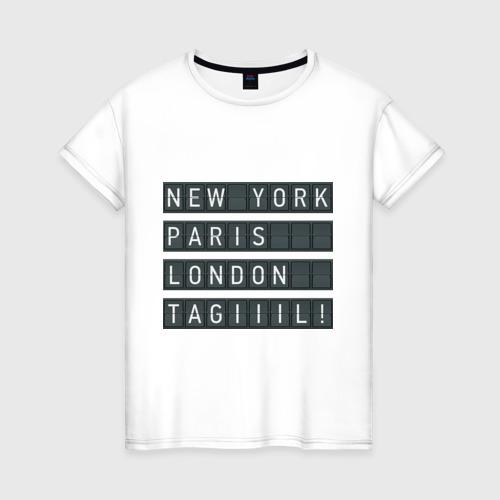 Женская футболка хлопок New York - Тагил Фото 01