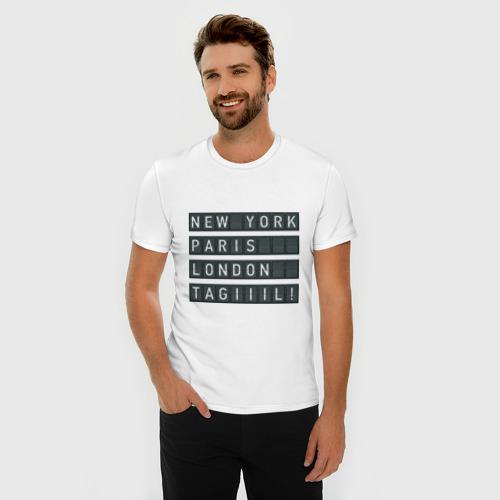 Мужская футболка хлопок Slim New York - Тагил Фото 01