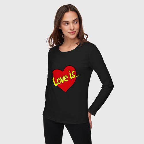 Женский лонгслив хлопок  Фото 03, Love is...