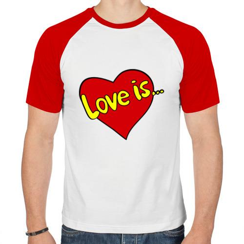 Мужская футболка реглан  Фото 01, Love is...