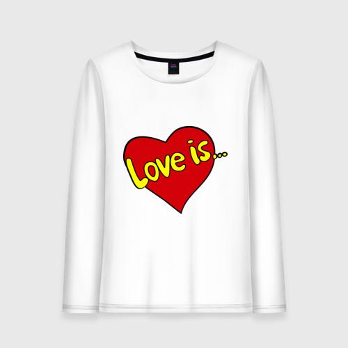 Женский лонгслив хлопок  Фото 01, Love is...