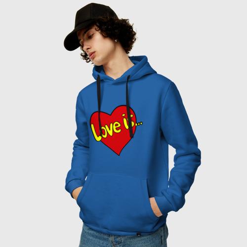 Мужская толстовка хлопок  Фото 03, Love is...
