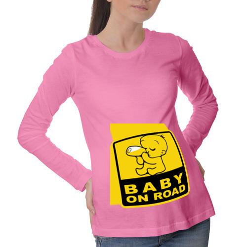 Лонгслив для беременных хлопок Baby On Road