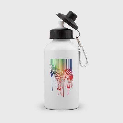 Бутылка спортивная Цветная зебра