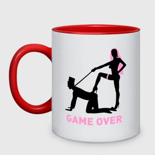 Кружка двухцветная Game over: свадьба Фото 01