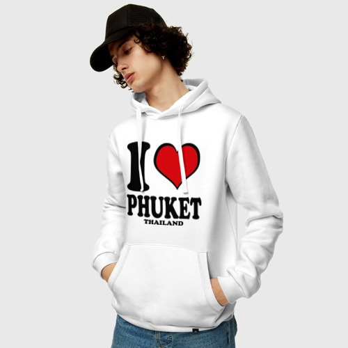 Мужская толстовка хлопок  Фото 03, I love Phuket