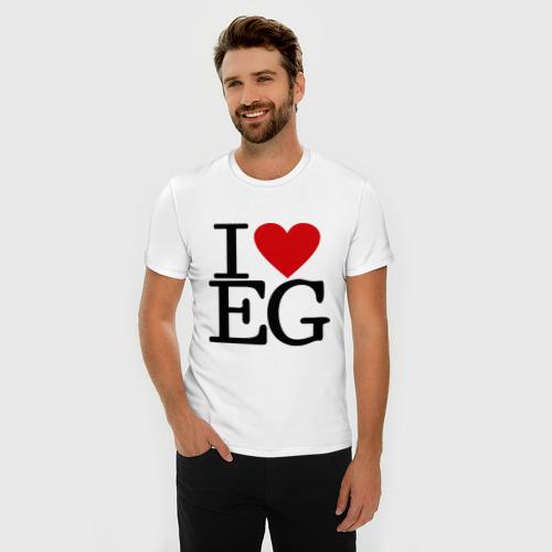 Мужская футболка премиум  Фото 03, I love egypt
