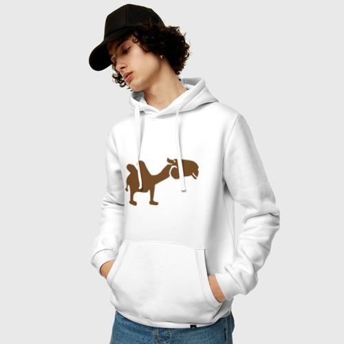 Мужская толстовка хлопок  Фото 03, Navy camel