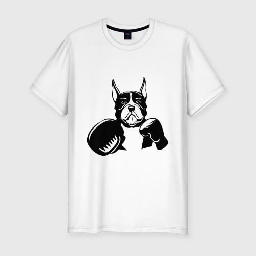 Мужская футболка премиум  Фото 01, Boxing dog