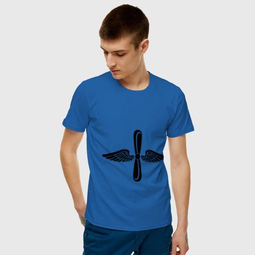 Мужская футболка хлопок Авиация Фото 01