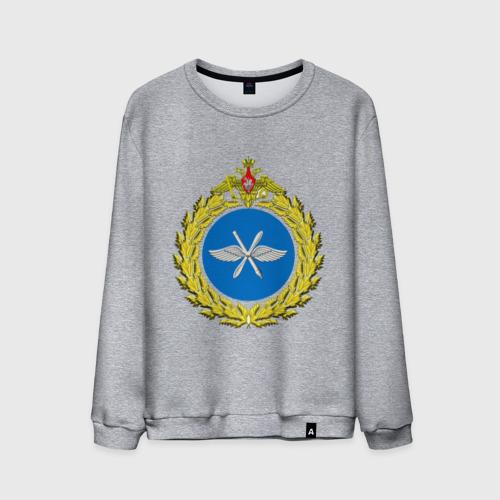 Мужской свитшот хлопок  Фото 01, Малая эмблема ВВС России (2)