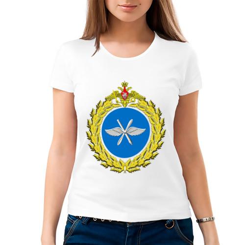 Женская футболка хлопок  Фото 03, Малая эмблема ВВС России (2)