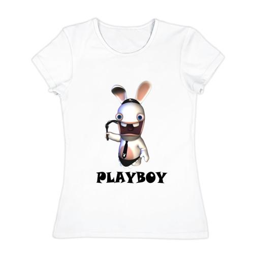 Женская футболка хлопок  Фото 01, Плейбой (2)