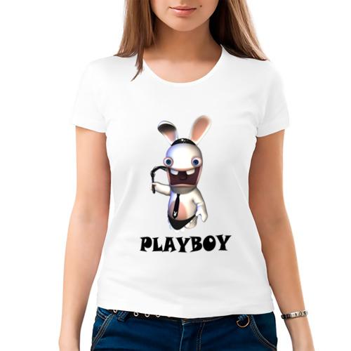 Женская футболка хлопок  Фото 03, Плейбой (2)