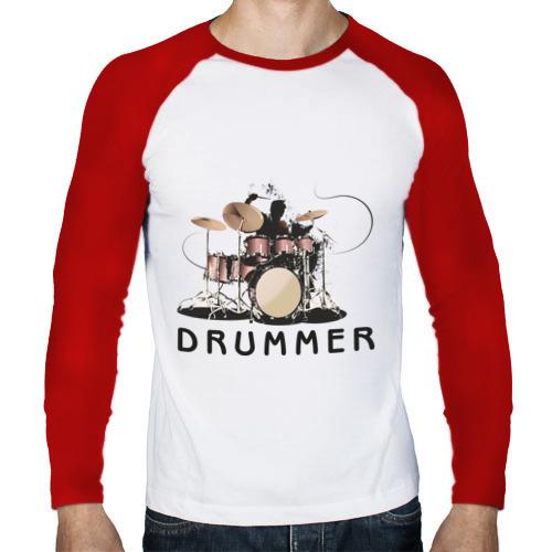 Мужской лонгслив реглан  Фото 01, Drummer