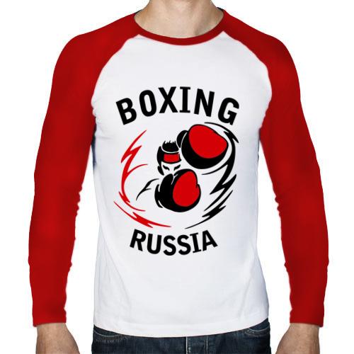 Мужской лонгслив реглан  Фото 01, Boxing russia forever