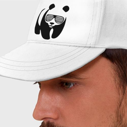 Бейсболка Панда в очках жалюзи