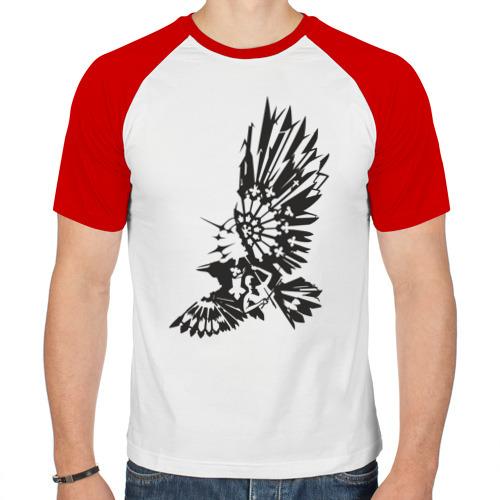 Мужская футболка реглан  Фото 01, Ворон (2)