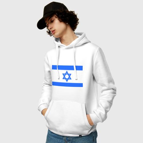 Мужская толстовка хлопок  Фото 03, Флаг Израиля