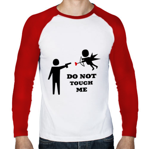 Мужской лонгслив реглан  Фото 01, Do not touch me (2)